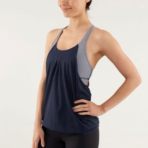 Lululemon practice freely tank sz 10 blue gingham